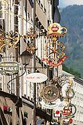 Getreidegasse, das historische Zentrum der Stadt Salzburg, UNESCO Welterbestätte, Österreich | Getreidegasse, the historic center of the city of Salzburg, a UNESCO World Heritage Site, Austria