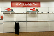 Empty shelves inside the Folkestone Debenhams store in the final few days of the 'Everything Must Go' sale before closing down in Folkestone, Kent. United Kingdom. The company announced the closure of 19 stores across the UK after going into administration in 2019.  (photo by Andrew Aitchison / In pictures via Getty Images)