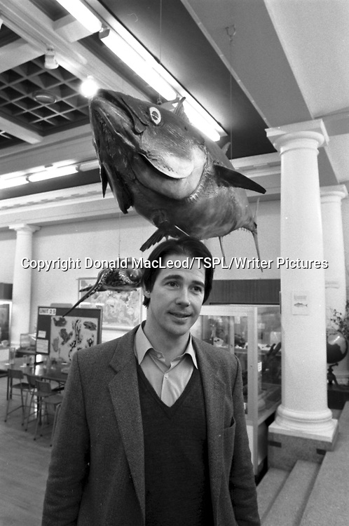Friends of the Earth director Jonathan Porritt at a rally in Glasgow University's department of Zoology in February 1987.<br /> <br /> picture by Donald MacLeod/TSPL/Writer Pictures<br /> contact +44 (0)20 822 41564<br /> info@writerpictures.com<br /> www.writerpictures.com