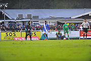 *** during the The FA Cup third round match between Eastleigh and Bolton Wanderers at Silverlake Stadium, Ten Acres, Eastleigh, United Kingdom on 9 January 2016. Photo by Graham Hunt.