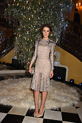 Rosanna Falconer at reception to celebrate the launch of the Claridge's Christmas Tree 2017 at Claridge's Hotel, Brook Street, London England. 28 November 2017.<br /> Photo by Dominic O'Neill/SilverHub 0203 174 1069 sales@silverhubmedia.com