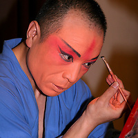 Asia, China, Beijing. Beijing Opera performer backstage