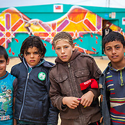 Dream Land Youth Center. Zaatari Camp for Syrian refugees, Jordan, 2014.