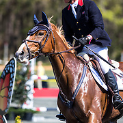 Leslie Law (GBR) and Voltaire De Tre at the Red Hills International Horse Trials in Tallahassee, Florida.