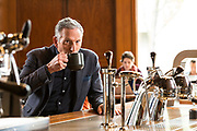 Howard Schultz, Founder and Chairman of Starbucks Coffee.  Photographed at Starbucks Reserve, Seattle WA, by Brian Smale for Fortune Magazine