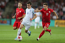 June 22, 2017 - Kielce, Poland - Karol Linetty (POL), Ben Chilwell (ENG), Przemyslaw Frankowski (POL), during the UEFA European Under-21 Championship Group A match between England and Poland at Kielce Stadium on June 22, 2017 in Kielce, Poland. (Credit Image: © Foto Olimpik/NurPhoto via ZUMA Press)