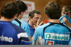 Coach of Trimo Trebnje Marko Sibila at  handball game between RD Knauf Insulation and RK Trimo Trebnje, on September 22, 2008, in Arena Poden, Skofja Loka, Slovenija. (Photo by Vid Ponikvar / Sportal Images)