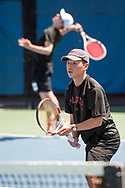 Eric Lim. Idaho High School State Tennis Championships on May 20, 2017 at Boise State University's Appleton Tennis Complex, Boise, Idaho. <br /> <br /> Boise's doubles team of Eric Lim and Nicholas Byrne defeated Madison's team of Joseph Duque and Mitch Blanchard, 6-4, 6-0 to win the 5A boys doubles title.