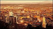 06 de març de 2014- Panoràmica des de Montjuic de la ciutat de Girona. Sunset. FOTOGRAFIES DE TONI VILCHES.