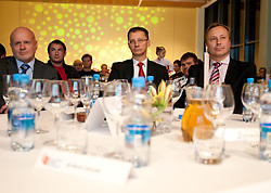 Marjan Hudej, Igor Luksic and Peter Kukovica during the Slovenia's Athlete of the year award ceremony by Slovenian Athletics Federation AZS, on November 12, 2008 in Hotel Mons, Ljubljana, Slovenia.(Photo By Vid Ponikvar / Sportida.com) , on November 12, 2010.