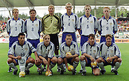 16.08.2000 Finnair Stadium, Helsinki, Finland. Friendly international match, Finland v Norway. .Finland, back row, left to right: Aarno Turpeinen, Simo Valakari, Jussi J??skel?inen, Sami Hyypi?, Hannu Tihinen, Mikael Forssell..Front, l to r: Jari Litmanen, Jarkko Wiss, Mika Nurmela, Harri Yl?nen, Joonas Kolkka..©JUHA TAMMINEN