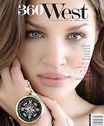 """Cover for first issue of """"360 West"""" magazine."""