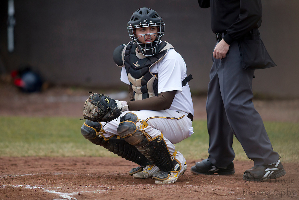 Rowan University Junior Catcher /Infielder Sean Kelly (20) Rowan University baseball vs Valley Forge Christian College at Rowan University in Glassboro, NJ on Friday March 2, 2012.