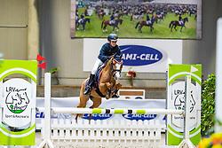 Stevens Rune, BEL, Otje SS van de Delthoeve<br /> Nationaal Indoor Kampioenschap Pony's LRV <br /> Oud Heverlee 2019<br /> © Hippo Foto - Dirk Caremans<br /> 09/03/2019