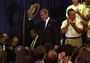 Governor George Bush arrives at Radisson Hotel near St. Louis International Airport, where he were endorsed by the National Troopers Coalition. NORWAY OUT except Dagbladet. DIGITAL Photo: Orjan Ellingvag / Getty Sygma