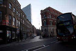 UK ENGLAND LONDON 20APR15 - <br /> <br /> Old buildings on Commercial Street are dwarfed by the steel and glass tower at 201 Bishopsgate.<br /> <br /> jre/Photo by Jiri Rezac<br /> <br /> <br /> <br /> © Jiri Rezac 2015