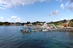 Waterfront of West End,the largest settlement on Roatan.