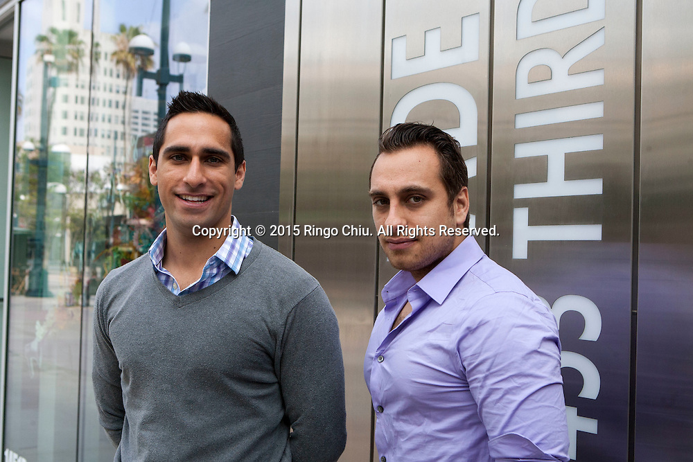 Ron Ghaneeian, right,  and his brother Ramin of Lot Plans in Santa Monica.(Photo by Ringo Chiu/PHOTOFORMULA.com)