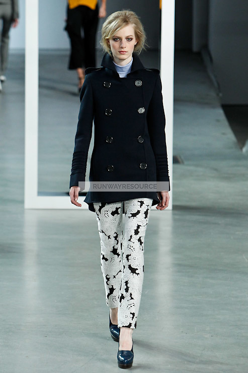 Julia Nobis walks down runway for F2012 Derek Lam's collection in Mercedes Benz fashion week in New York on Feb 10, 2012 NYC