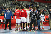 Team Serbia during the EHF 2018 Men's European Championship, 2nd Round, Handball match between Serbia and Belarus on January 24, 2018 at the Arena in Zagreb, Croatia - Photo Laurent Lairys / ProSportsImages / DPPI