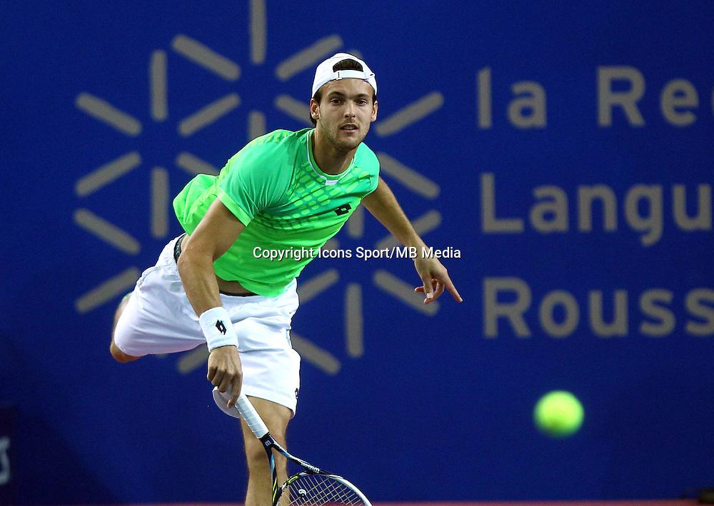 JOAO SOUSA - 07.02.2015 - Tennis - Open Sud de France- Montpellier<br /> Photo : Andre Delon / Icon Sport