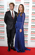 24.MARCH.2013. LONDON<br /> <br /> SAM CLAFLIN AND LAURA HADDOCK ATTEND THE 18TH JAMESON EMPIRE FILM AWARDS 2013 AT GROSVENOR HOUSE IN LONDON<br /> <br /> BYLINE: EDBIMAGEARCHIVE.CO.UK<br /> <br /> *THIS IMAGE IS STRICTLY FOR UK NEWSPAPERS AND MAGAZINES ONLY*<br /> *FOR WORLD WIDE SALES AND WEB USE PLEASE CONTACT EDBIMAGEARCHIVE - 0208 954 5968*