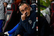 Chelsea manager Maurizio Sarri during the Premier League match between Bournemouth and Chelsea at the Vitality Stadium, Bournemouth, England on 30 January 2019.