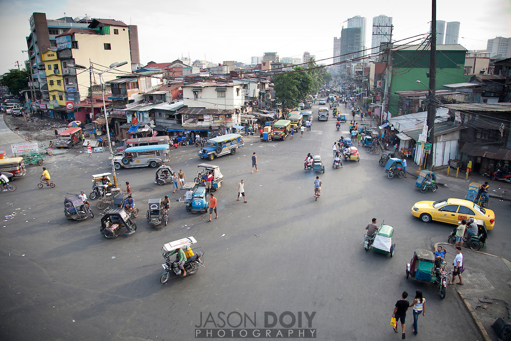 An overhead view of a Delpan Street from Jones street scene in Tondo Manila.