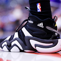 06 April 2014: Close view of Los Angeles Lakers forward Wesley Johnson (11) shoes during the Los Angeles Clippers 120-97 victory over the Los Angeles Lakers at the Staples Center, Los Angeles, California, USA.