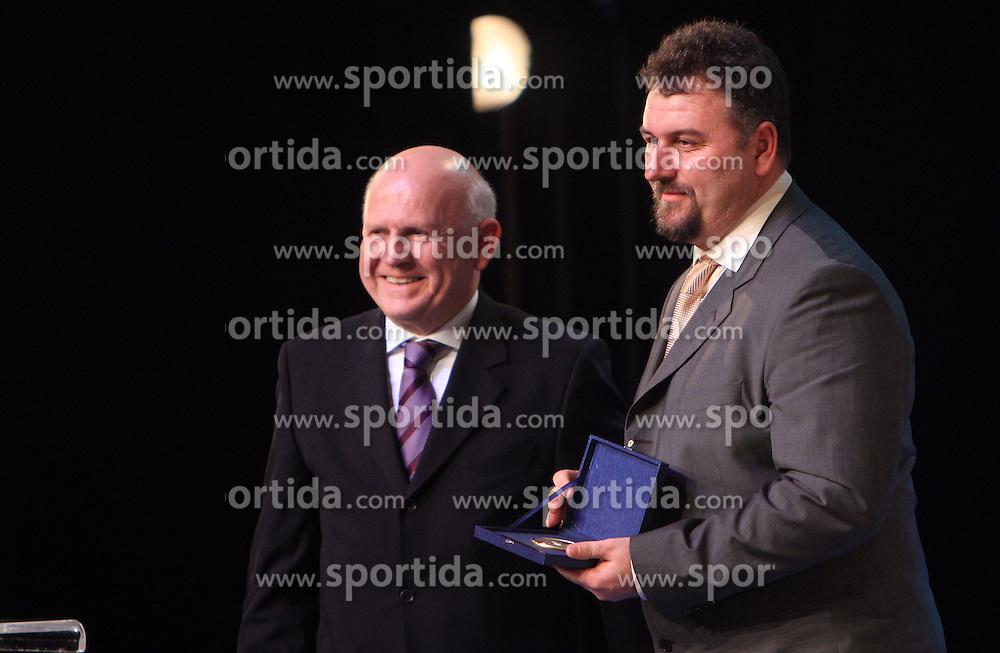 Janez Kocijancic and Vladimir Kevo at  Slovenian sportsman of the year 2008 ceremony, on December 22, 2008, in Cankarjev dom, Ljubljana, Slovenia. (Photo by Vid Ponikvar / SportIda).
