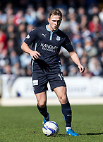 11/04/14 SCOTTISH PREMIERSHIP<br /> ST JOHNSTONE v DUNDEE (1-0)<br /> MCDIARMID PARK - PERTH<br /> Dundee's Greg Stewart in action