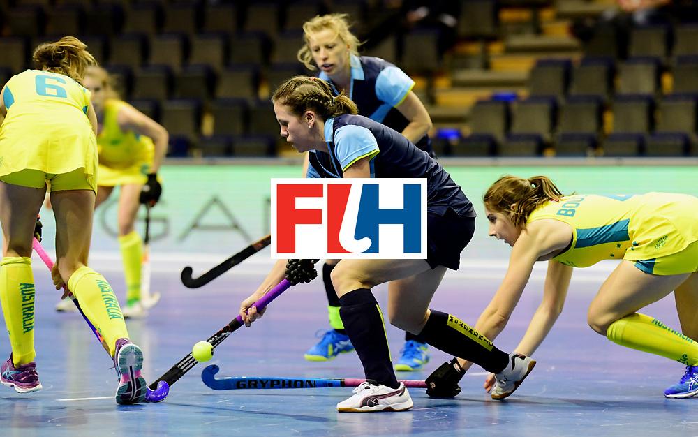 BERLIN - Indoor Hockey World Cup<br /> Women: Ukraine - Australia<br /> foto: MOROZ Yevheniya.<br /> WORLDSPORTPICS COPYRIGHT FRANK UIJLENBROEK