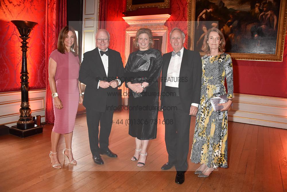 Sara Watson, Chairman of the Tusk board Stephen Watson and his wife Emma Watson, Charlie Mayhew founder of Tusk and Caroline Mayhew at the Tusk Ball at Kensington Palace, London, England. 09 May 2019.