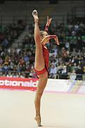 Marta Martella ginnasta dell'Arcobaleno Prato durante il Campionato Italiano d Ginnastica ritmica.<br /> Qui a Desio il 01-11-2014 ha portato in pedana l'esercizio al corpo libero.