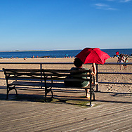 The Coney Island boardwalk, Brooklyn, New York; 2013