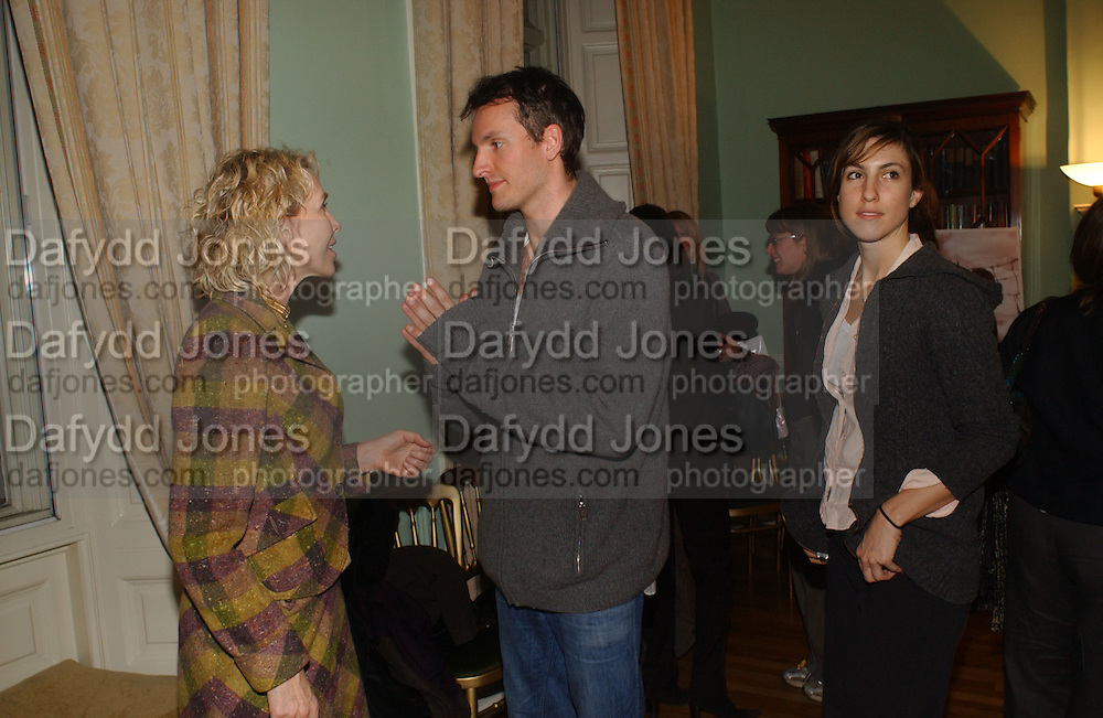 TRUDIE STYLER, JOE SUMNER AND REBECCA HEART. The 10th Anniversary Human Rights Watch International Film Festival Benefit Gala  reception at Dartmouth House. 15 March 2006.  ONE TIME USE ONLY - DO NOT ARCHIVE  © Copyright Photograph by Dafydd Jones 66 Stockwell Park Rd. London SW9 0DA Tel 020 7733 0108 www.dafjones.com