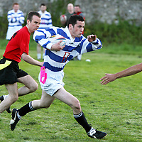 Fergal Griffin in action for Roche at the Volvic Tag Rugby Finals at Ennis Rugby Grounds on Thursday evening.<br /><br />Photograph by Eamon Ward