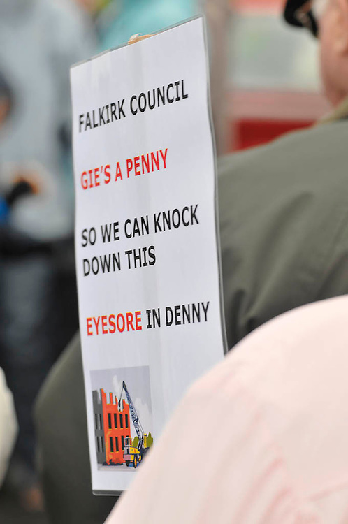 Protests for the regeneration of Denny & Dunipace.