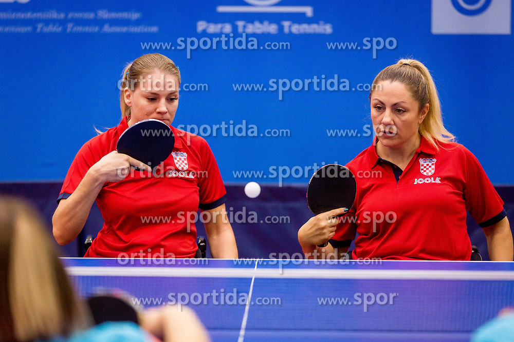 CROATIA (MUZINIC Andela and DRETAR Helena) during day 4 of 15th EPINT tournament - European Table Tennis Championships for the Disabled 2017, at Arena Tri Lilije, Lasko, Slovenia, on October 1, 2017. Photo by Ziga Zupan / Sportida