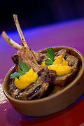 Grilled Lamb cutlets with a moroccan carrot puree. Moorish, Knuckey Street Darwin. Photo Shane Eecen