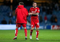 Lee Tomlin of Bristol City looks dejected after they lose 1-0 - Rogan Thomson/JMP - 18/10/2016 - FOOTBALL - Loftus Road Stadium - London, England - Queens Park Rangers v Bristol City - Sky Bet EFL Championship.