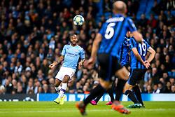 Raheem Sterling of Manchester City crosses the ball - Mandatory by-line: Robbie Stephenson/JMP - 22/10/2019 - FOOTBALL - Etihad Stadium - Manchester, England - Manchester City v Atalanta - UEFA Champions League Group Stage