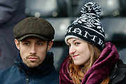 Fulham fans during The FA Cup 3rd round match between Fulham and Oldham Athletic at Craven Cottage, London, England on 6 January 2019.