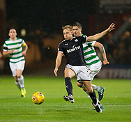 20th September 2017, Dens Park, Dundee, Scotland; Scottish League Cup Quarter-final, Dundee v Celtic; Dundee's A-Jay Leitch-Smith and Mikael Lustig