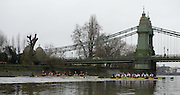 London, Great Britain, Oxford, left Business and right, Pleasure. approaching Hammersmith Bridge, during the  BNY Mellon, 2016 University Men's Boat Race, Putney to Mortlake. ENGLAND. <br /> <br /> Sunday 13.12.2015<br /> <br /> [Mandatory Credit; Peter Spurrier/Intersport-images]