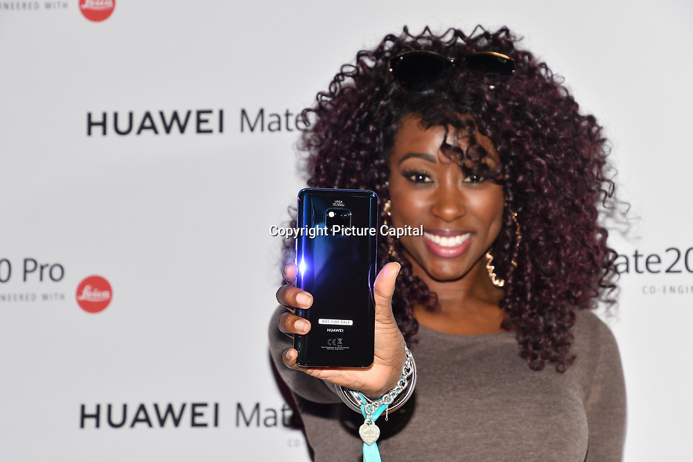 Scarlette Douglas attend Huawei - VIP celebration at One Marylebone London, UK. 16 October 2018.