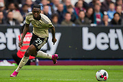 Aaron Wan-Bissaka (Man United) during the Premier League match between West Ham United and Manchester United at the London Stadium, London, England on 22 September 2019.