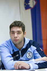 David Korazija at press conference of Handball Men National Team of Slovenia before match with Bolgaria,  on November 24, 2008 in RZS, Ljubljana, Slovenia.  (Photo by Vid Ponikvar / Sportida)