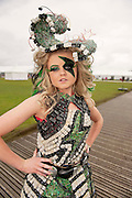 1/7/2012 Kelly Bolger from Enniscorty in Co Wexford  at Junk Kouture Fashion Shows Global Village, Style Platform. Picture :Andrew Downes..