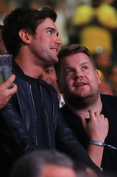 Jack Whitehall (left) and James Corden at Madison Square Garden, New York.
